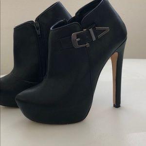 Aldo black ankle boots